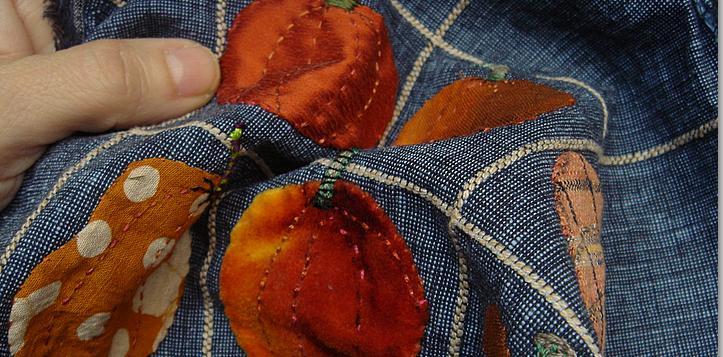 Sewing pumpkins