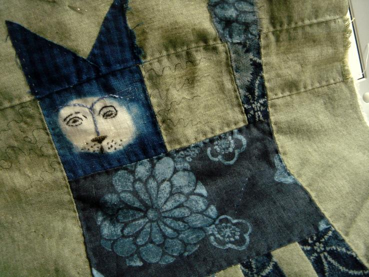 Moon faced indigo lion