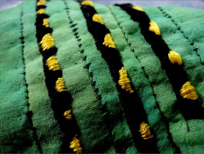 Catepillar stitching