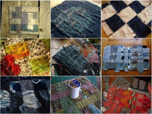 Quilt weaving collage