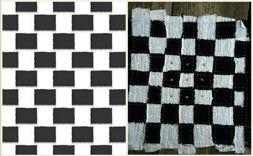 The weave as a checkerboard