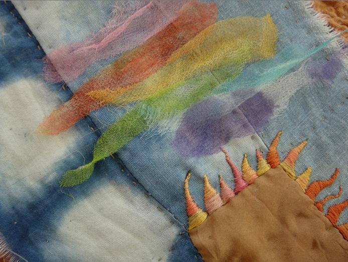 Painting with silk gauze