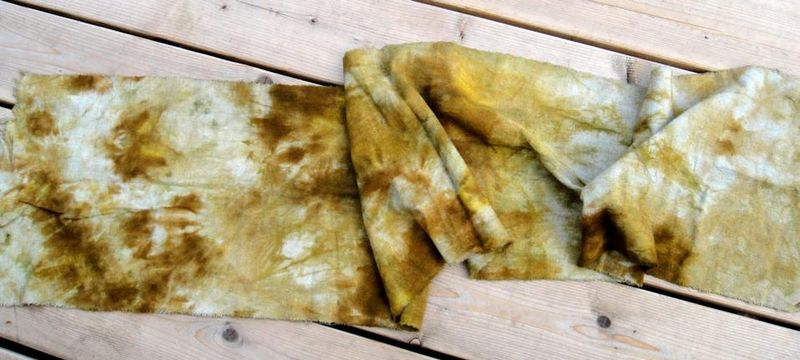 Handyed sack cloth from deb lacativa