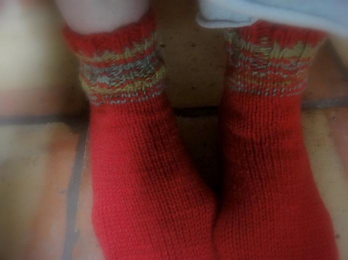 Red socks from deb