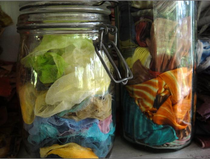 Jars of silk