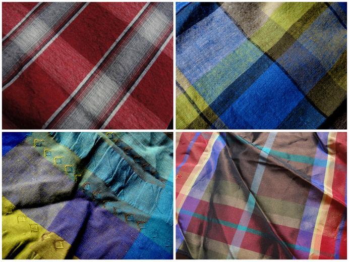 Color woven plaids