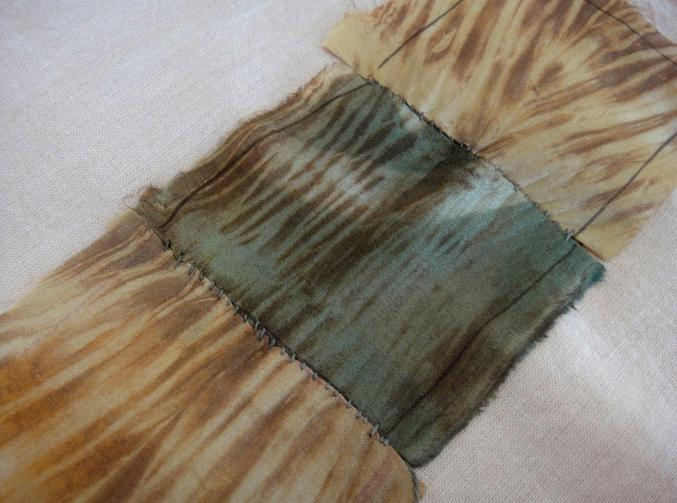 Shibori over silk patchwork