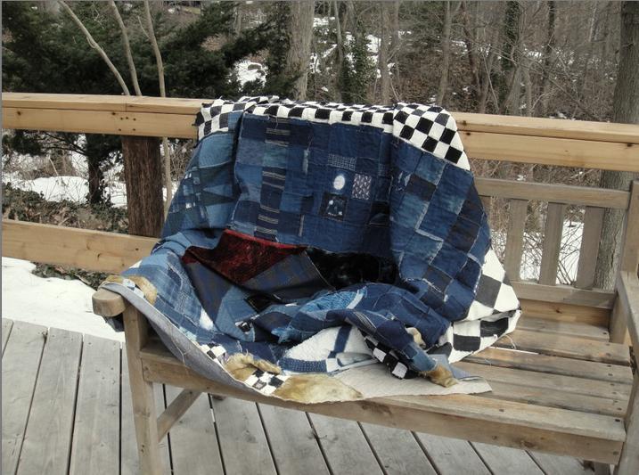 A cloth sitting