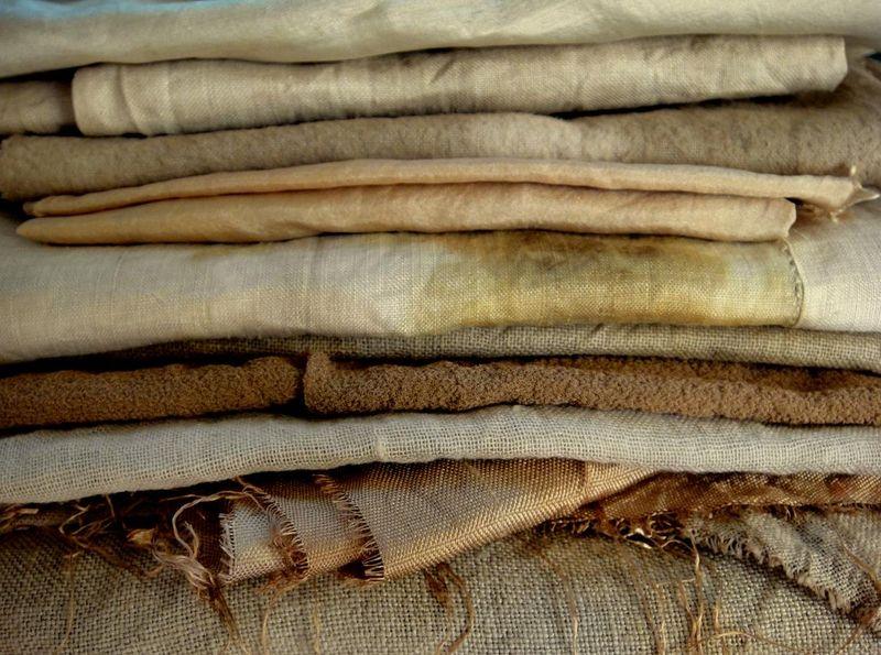 Walnut stained cloth
