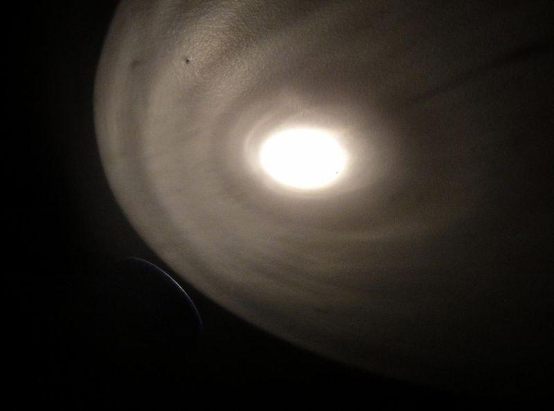Flashlight moon