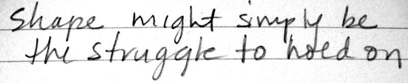 Notes on shape
