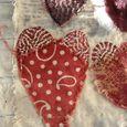 Kantha hearts