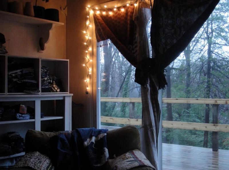 home on a rainy day in december