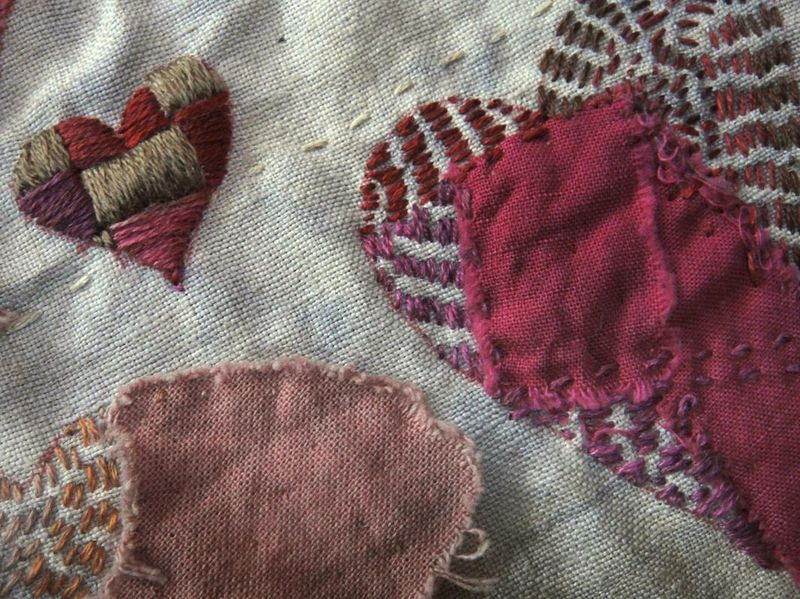 Hearts in stitches