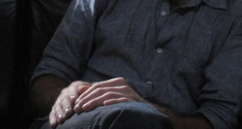 A son's hands