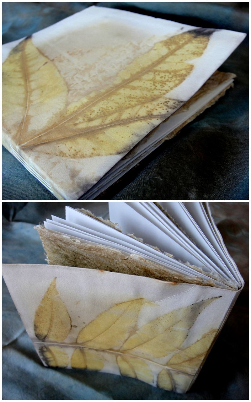 Eco printed journal by lotta helleberg