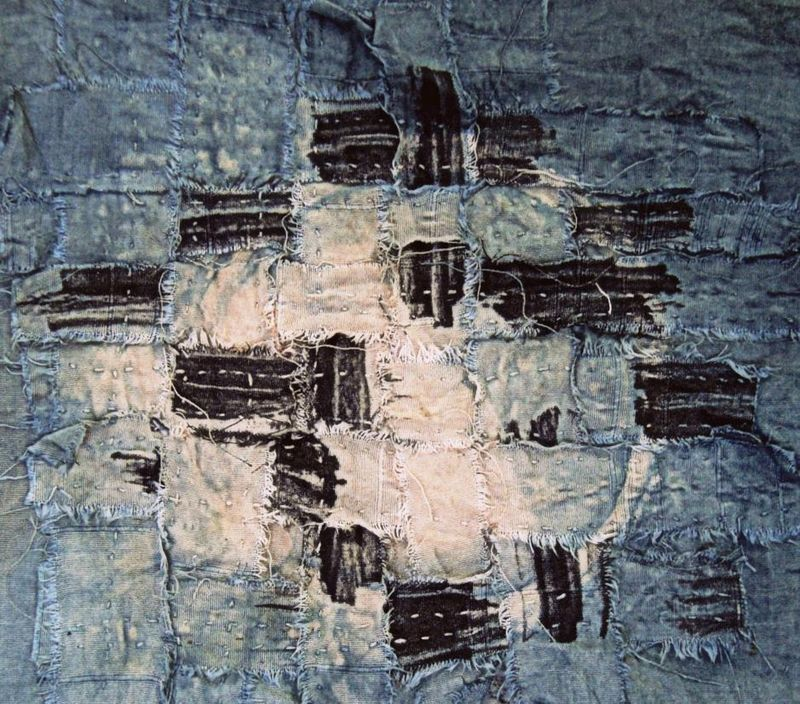 a woven impression