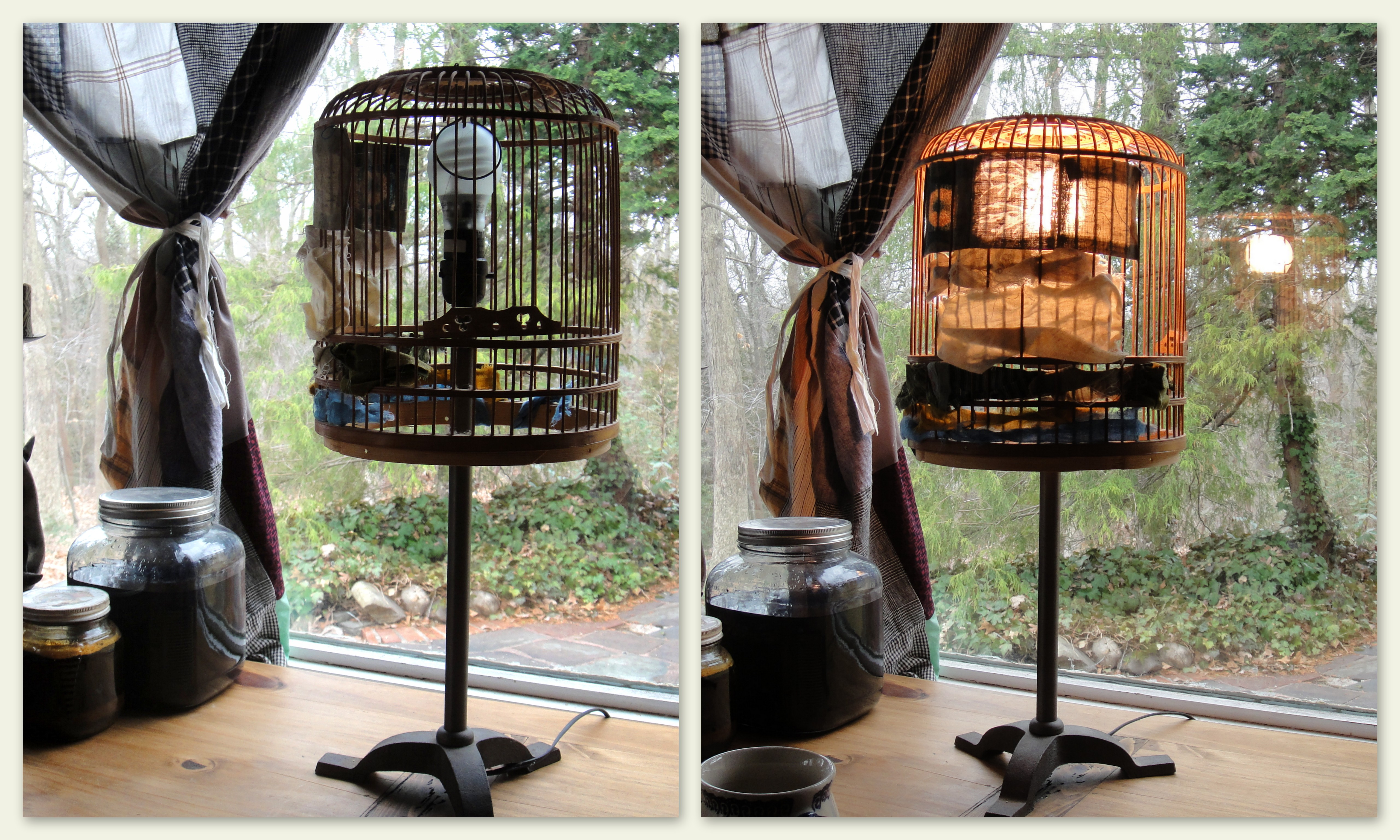 home sky birdcage lg decor crestview products lamp table