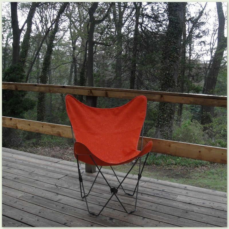 Orange butterfly chair