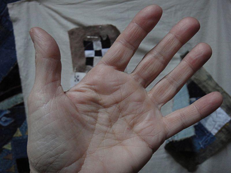 Naked hands
