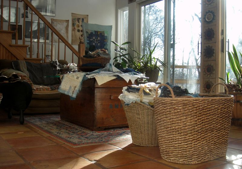 Baskets and spring