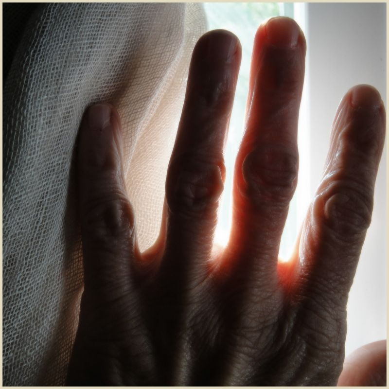 A mender's hand