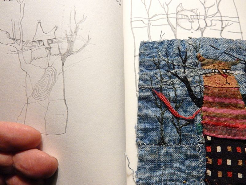 Sketching from cloth