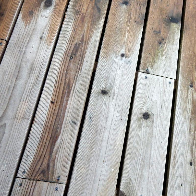 Rain on wood