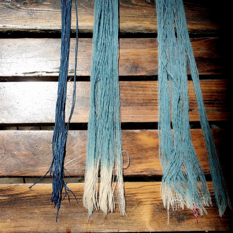 Silk 3 dips, wool 1 of 3