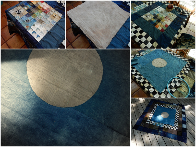 Coating the back of a patchwork