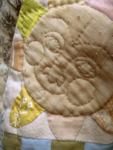 Sun face from cat quilt