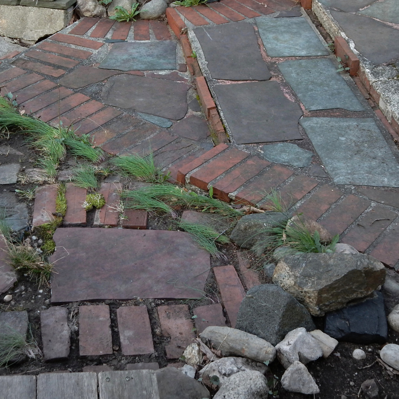 Patchwork patio
