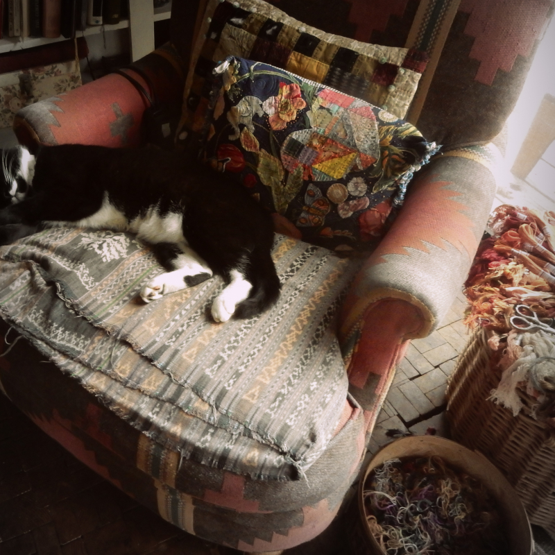 First november nap and the sewing chair takeover