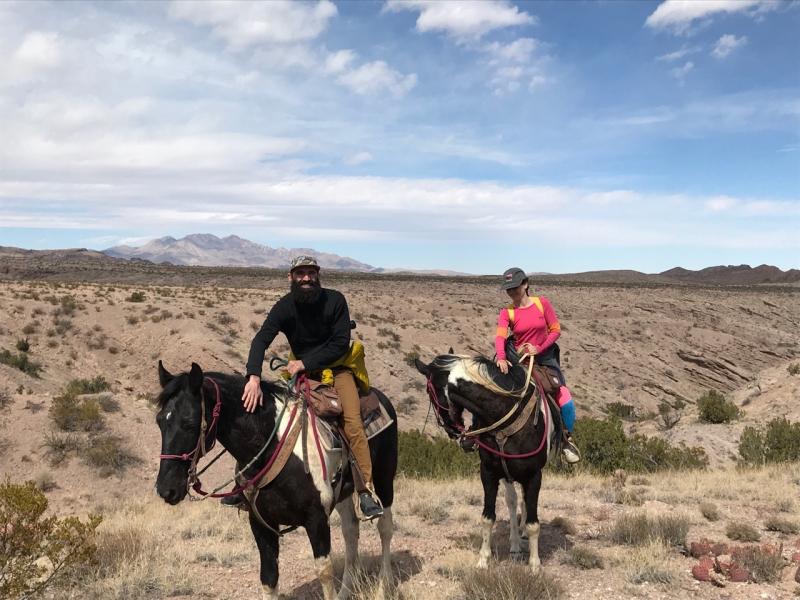K and a on horseback