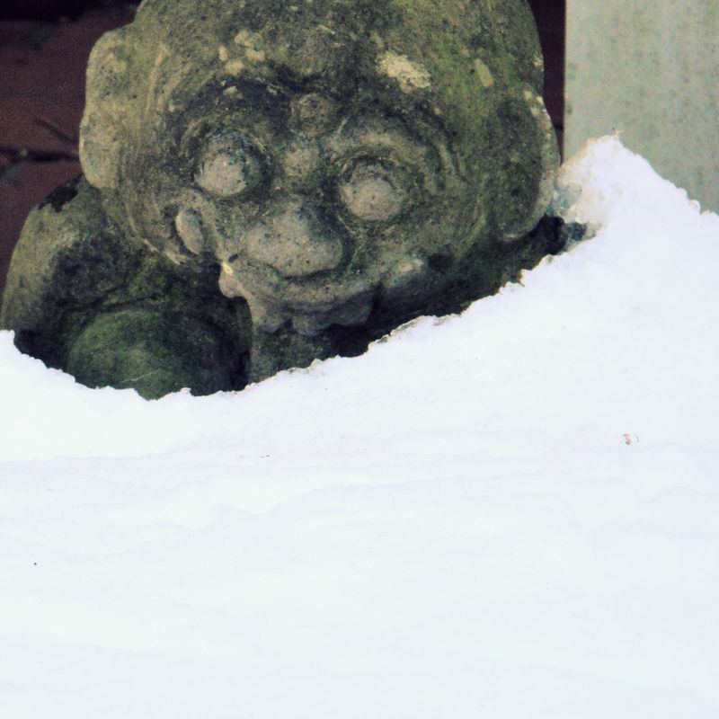 Stoneface in the snow