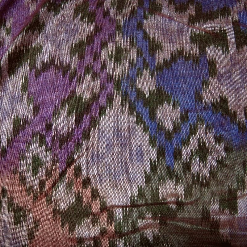 Cotton silk ikat