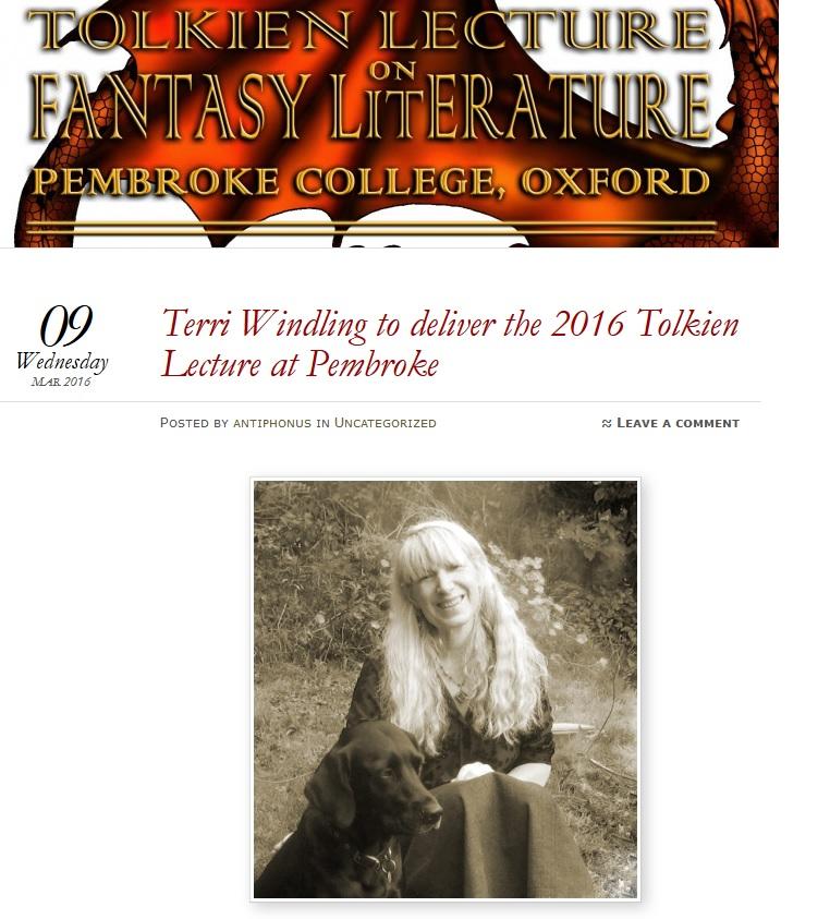 Terri Windling Lecture