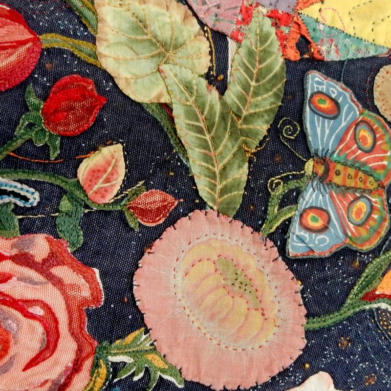 Detail of secret garden  pillow
