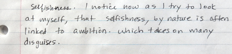 Note on selfishness