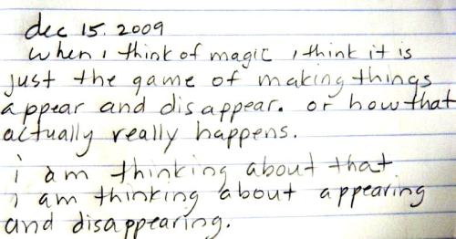 Notes on magic