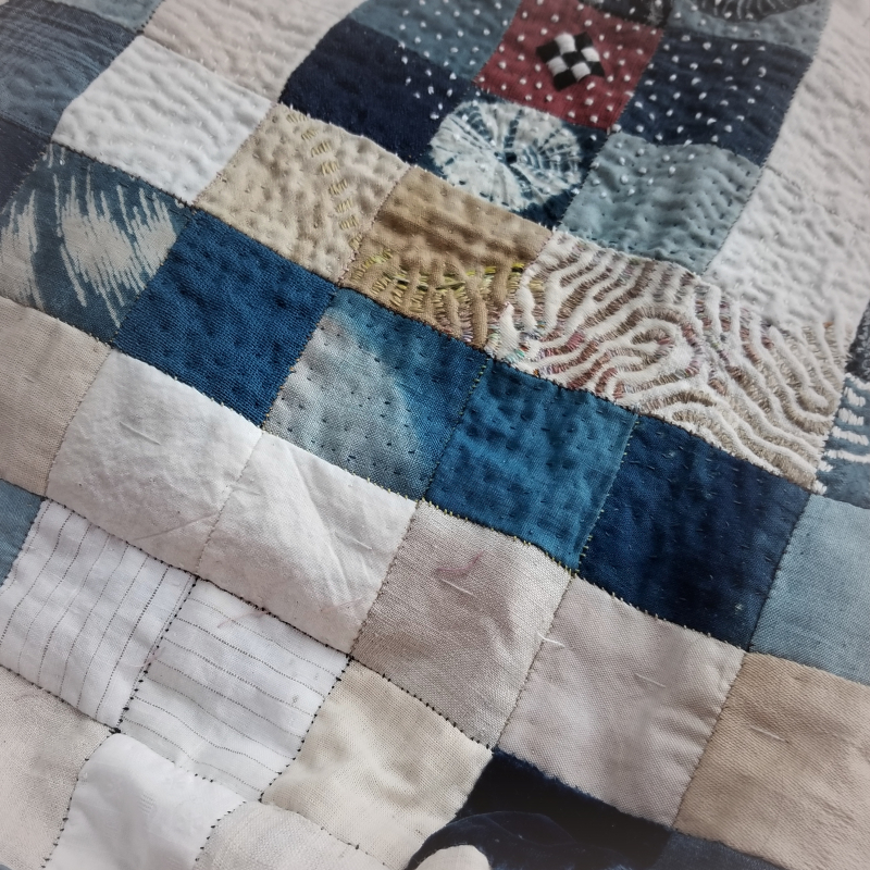 Quilting on holding pattern