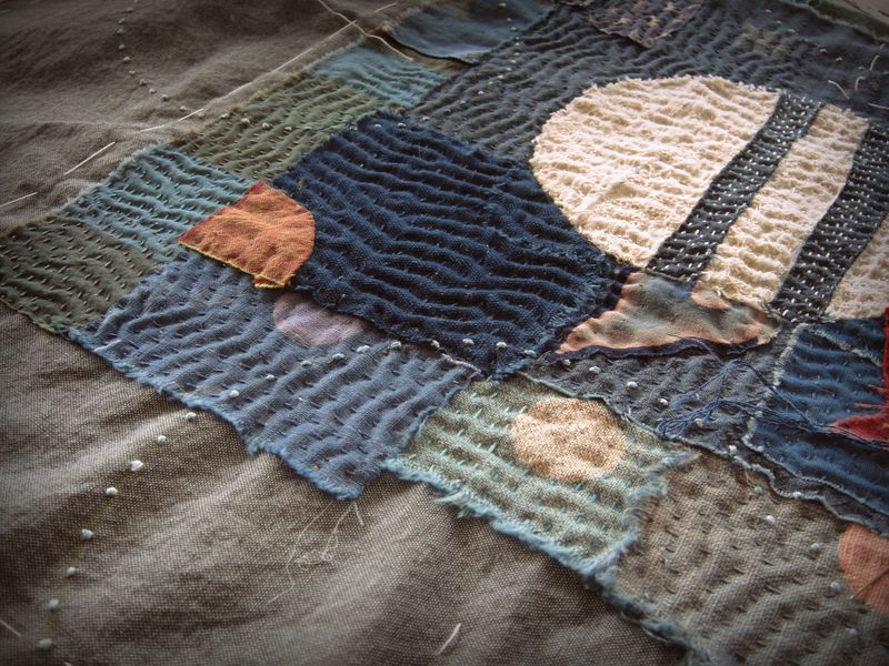The ripple of the stitch