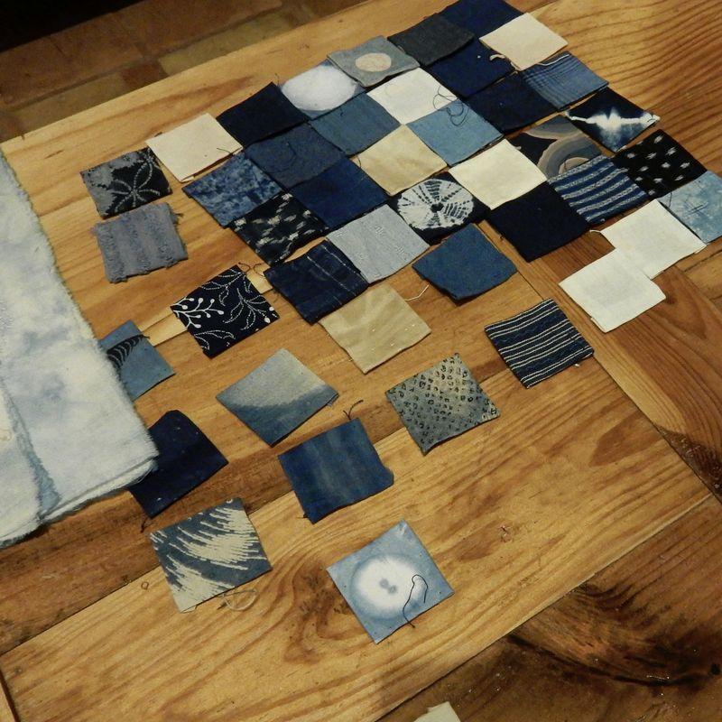Blue squares at dusk