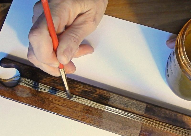 Painting with iron water