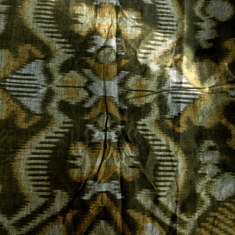 Cotton silk ikat from indonesia