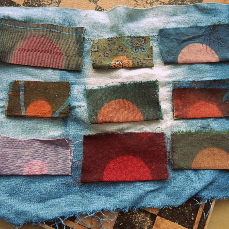 Nine variations on a cloth sunrise