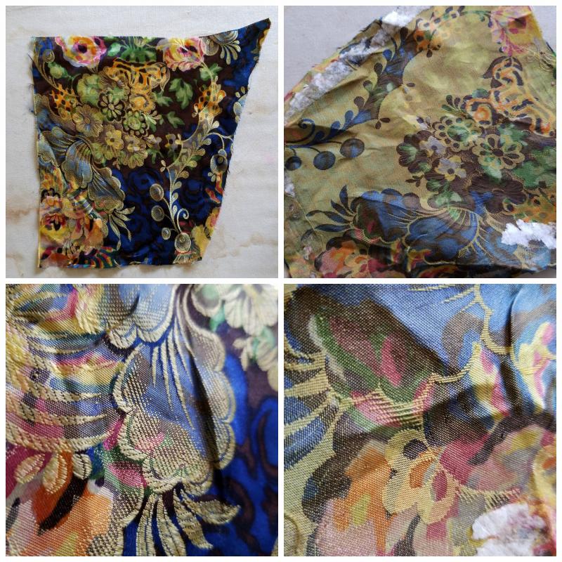 Warp printed silk