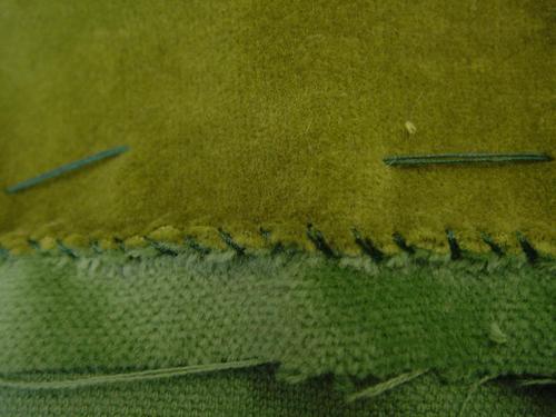 overcast method/ stitched