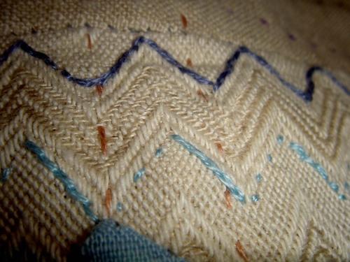 Ripple embroidery detail