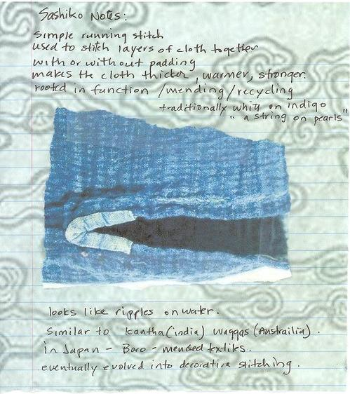 Sashiko notes 1